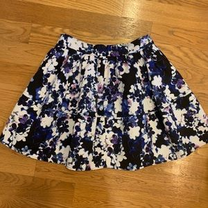 Express High Waist Full Floral Skirt